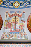 Wall painting in the church in Lvov — Stock Photo
