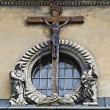 Crucifixion of Jesus Christ on the building in Lvov — Stock Photo #27036187