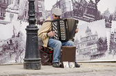 Busker — Stock Photo