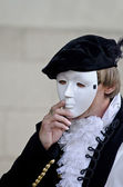 Man wearing a mask on his face — Stock Photo