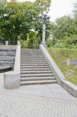 Treppe im park — Stockfoto