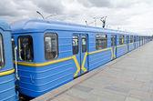 Subway cars in Kiev — Stock Photo