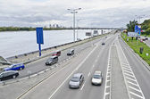 Highway on the waterfront in Kiev — Stock Photo