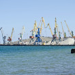 Seaport in Feodosia — Stock Photo