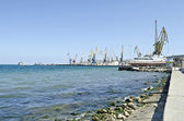 Seaport in Feodosia — Stock Photo