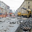 Stock Photo: Repair street Gorodockayin Lvov