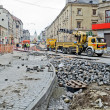 Repair street Gorodockaya in Lvov — Stock Photo
