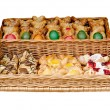 Bake in a basket for Easter — Stock Photo