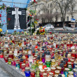 Постер, плакат: Candles in honor of those killed in the Maidan