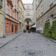 One of the main streets in Lvov — Stock Photo