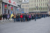 Students on the streets of Lvov — Foto de Stock