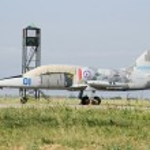 Постер, плакат: Military aircraft Aero L 39 Albatros at the airport in the Crime
