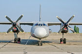 Russian military aircraft An-26 — Stock Photo