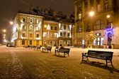 Night landscape of Lvov — Stock Photo