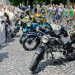 Постер, плакат: Retro motorcycles close up on display outdoors in Lvov