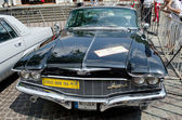 Retro car close-up on display outdoors in Lvov — Stock Photo