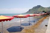 Sombrillas de playa — Foto de Stock
