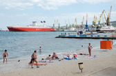 Urban beach in Feodosia — Stock Photo