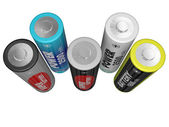 Cinque batterie aa — Foto Stock