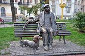 Monument to national Ukrainian artist M.F.Yakovchenko — Stock Photo
