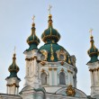 Domes of The Saint Andrew's Church in Kyiv — Stock Photo