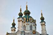 Domes of The Saint Andrew's Church in Kyiv — Foto de Stock