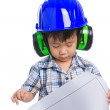 Young boy engineer — Stock Photo #48091751