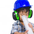 Young boy engineer — Stock Photo #48091843