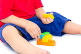 Child Playing with blocks — Stock Photo
