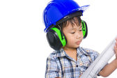 Młody chłopak inżynier — Zdjęcie stockowe