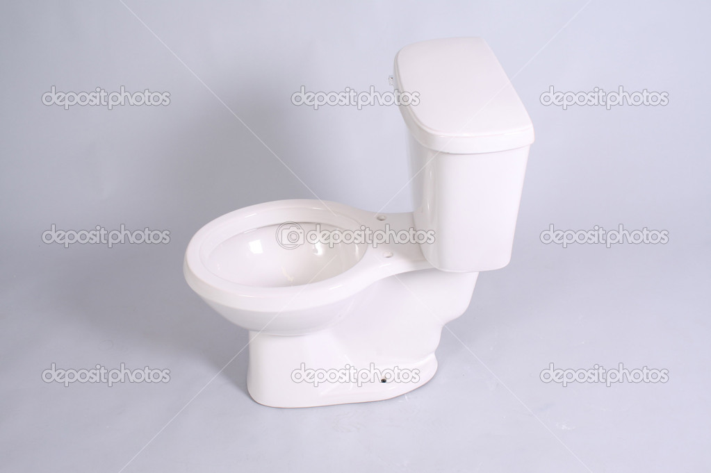 Toilet in white background  Stock Photo #12300725