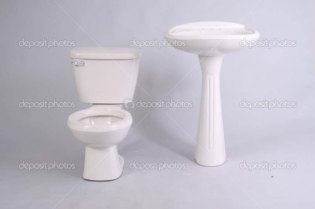 Toilet in white background — Stock Photo #12300728