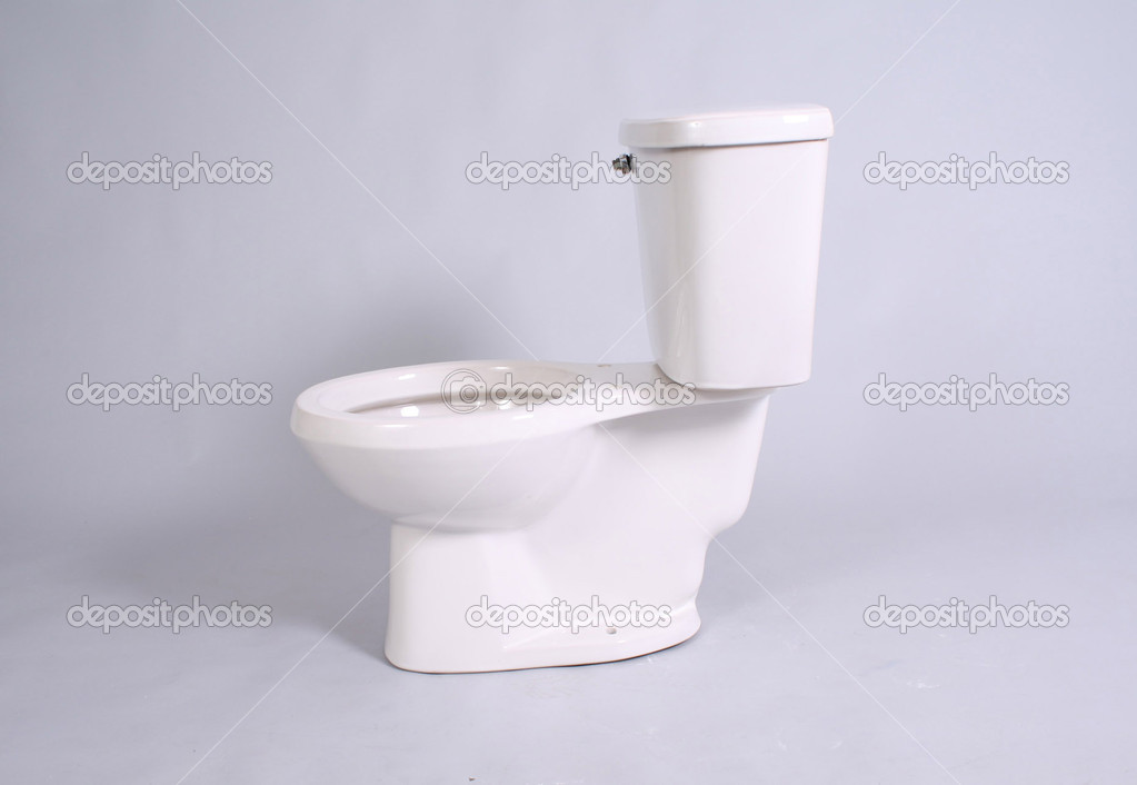 Toilet in white background  Stock Photo #12300729