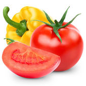 Pepper and tomato — Stock Photo