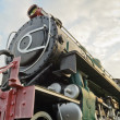 Ancient steam trains — Stock Photo