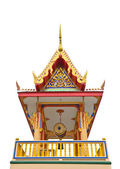 Campanile of thai temple isolated on whit — Stockfoto