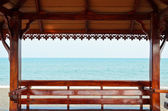 Pavilion rests at the seaside — Stock Photo