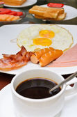 Amerikansk frukost — Stockfoto