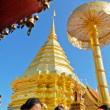 Stock Photo: End of Buddhist Lent Day at PhrThat Doi Suthep temple