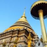 Ancient pagodas at Wat Phra That Lampang Luang temple — Stock Photo #39348513