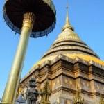 Ancient pagodas at Wat Phra That Lampang Luang temple — Stock Photo #39348845