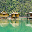 Bamboo floating resort — Stock Photo