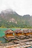 Bamboo floating resort — Stock Photo