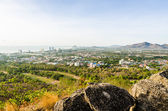 Landscape Hua Hin city in the morning — Stock Photo
