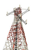 Communications Tower on white background — Stock Photo