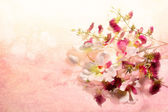 Flowers on a nice pink background — Stock Photo