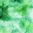 Pale green and white watercolor smudges - Stock Photo