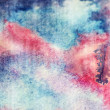 Deep blue and pink watercolor texture — Стоковая фотография