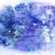 Blue watercolor blotch — Stock Photo