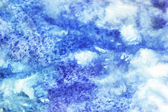 Blue and white watercolor stains — Stock Photo